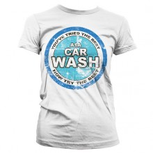 Breaking Bad A1A Car Wash Girly T-Paita Valkoinen