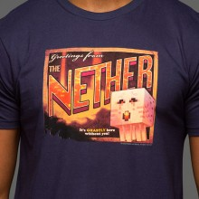 Minecraft Nether Postcard Premium T-paita