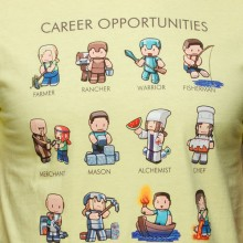 Minecraft Career Opportunities Premium T-paita