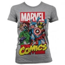 Marvel Comics Heroes Naisten T-Paita Harmaa