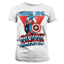 Captain America Since 1941 Naisten T-Paita Valkoinen