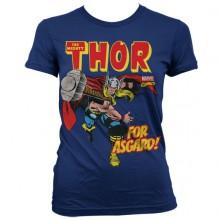 The Mighty Thor - For Asgard! Naisten T-Paita Sininen