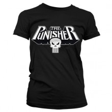 The Punisher Logo Naisten T-Paita Musta