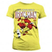 The Invincible Iron Man Naisten T-Paita Keltainen