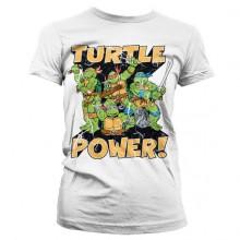 TMNT - Turtle Power! Naisten T-Paita Valkoinen
