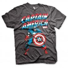 Captain America T-paita Tummanharmaa