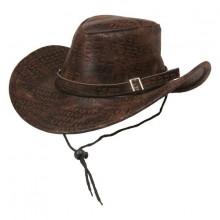 Cowboyhattu Ruskea Käärmeennahka