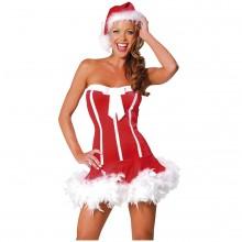 Seksikäs Santa Girl Naamiaisasu