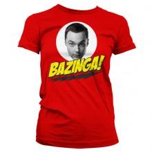 Big Bang Theory Sheldon Bazinga Naisten T-Paita