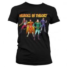 The Big Bang Theory - Heroes In Theory Naisten T-paita