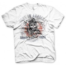 Sons Of Anarchy Distressed Flag T-Paita