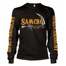 SAMCRO Est. 1967 Long Sleeve T-Paita Musta