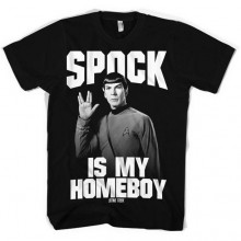Star Trek Spock Is My Homeboy T-Paita
