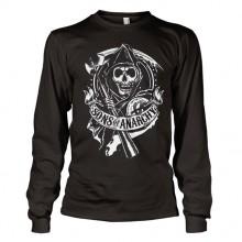 Sons Of Anarchy SOA Scroll Reaper Long Sleeve T-Paita