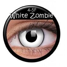 Värilliset linssit crazy zombie-valkoinen