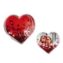 Sydän kuvalla ja sydämillä