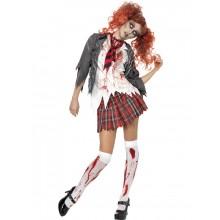 Lukio Kauhu Zombie Koulutyttö Naamiaisasu