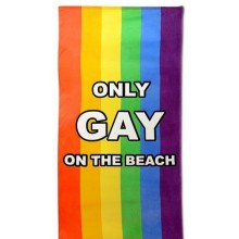 Only Gay On The Beach Pyyhe