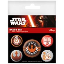 Star Wars Episode Vii Resistance Badges 5-Pakkaus