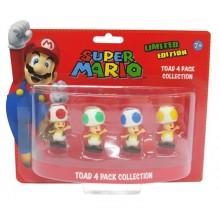 Nintendo Pienoishahmot 4-Pakkaus Toad