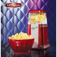 Retro Popcorn-kone Punainen/Valkoinen
