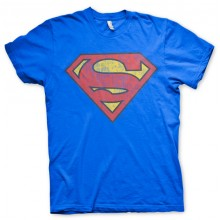 Superman Washed Shield T-paita Sininen