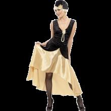 20-luvun Gatsby-tyttö Naamiaisasu