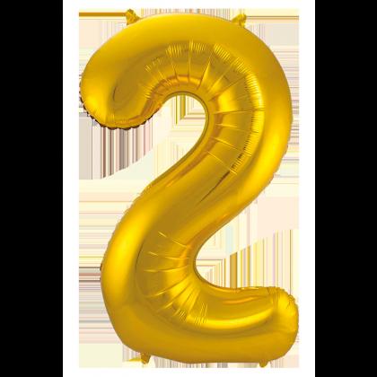 Jumbo Sifferballong Guld 2
