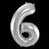 Jumbo Sifferballong Silver 6