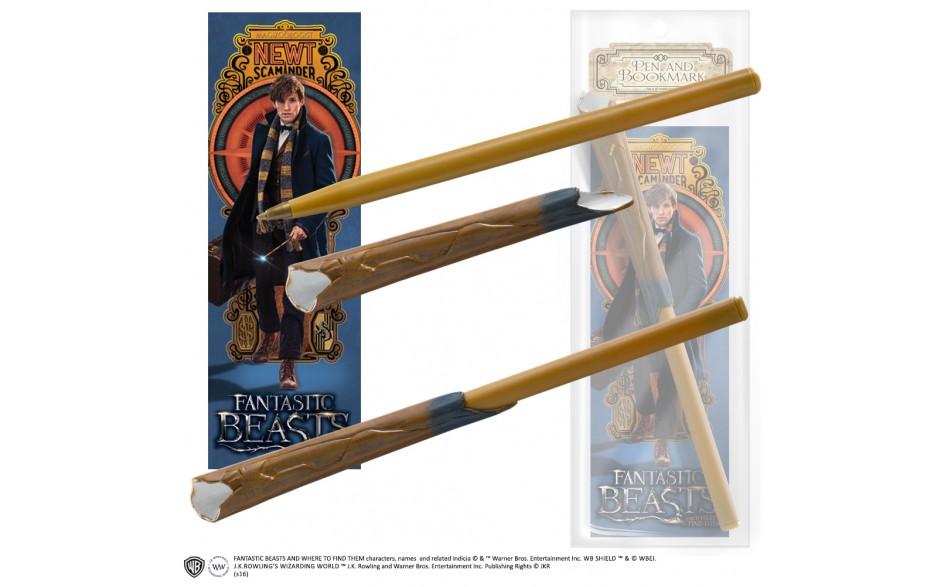 Fantastic Beasts Newt Scamander's Wand Penna & Bokmärke