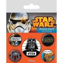 Star Wars Rintamerkit Old School 5-Pakkaus