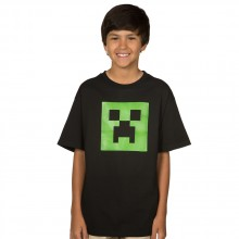 Minecraft Creeper Glow In The Dark Lasten T-paita