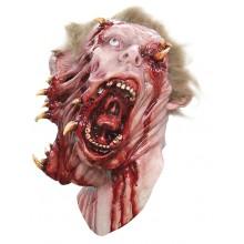 Zombie Halkaistu Pää Naamari Deluxe