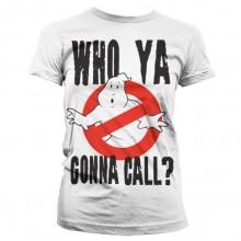 Ghostbusters Who Ya Gonna Call Naisten T-Paita Valkoinen
