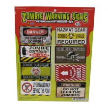 Zombie Danger Signs Magneetit