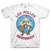 Breaking Bad Los Pollos Hermanos T-Paita Valkoinen