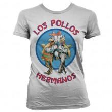 Breaking Bad Los Pollos Hermanos Naisten T-Paita Valkoinen