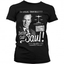 Breaking Bad Better Call Saul Naisten T-Paita Musta
