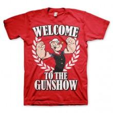 Popeye - Welcome To The Gunshow T-Paita Punainen