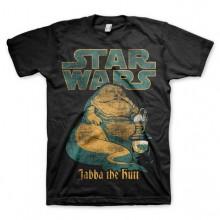 Star Wars Jabba The Hutt T-Paita Musta