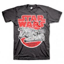 Star Wars Millennium Falcon T-Paita Tumma Harmaa