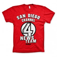 San Diego Channel 4 T-Paita Punainen
