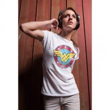 Wonder Woman Distressed Logo Naisten T-Paita Harmaa
