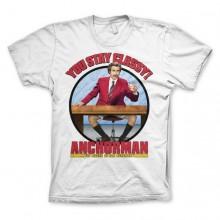 Anchorman You Stay Classy T-Paita Valkoinen