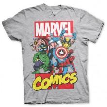 Marvel Comics Heroes T-Paita Harmaa