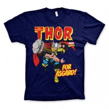 The Mighty Thor - For Asgard! T-Paita Sininen