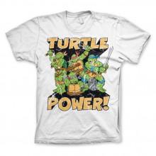 TMNT - Turtle Power! T-Paita Valkoinen