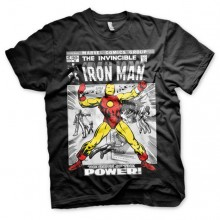 Iron Man Cover T-Paita Musta
