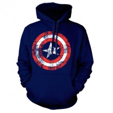 Captain America Distressed Shield Huppari Navy