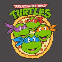 Turtles Pizza Face T-Paita